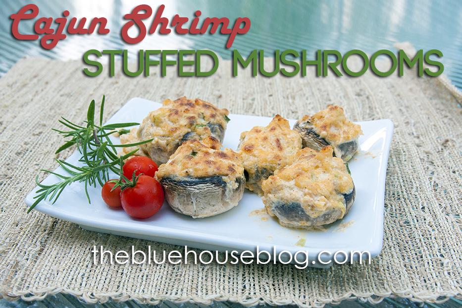 Cajun Shrimp Stuffed Mushrooms, Trim Healthy Mama Style.