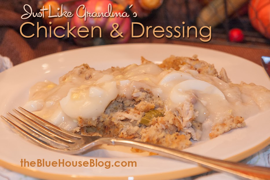 {Just Like Grandma's} Chicken and Dressing.